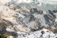 Steengroeve in Toscanië, Carrara Stock Afbeelding