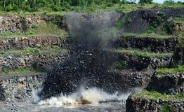 STEENGROEVEexplosie Stock Fotografie
