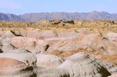 Steenheuvels in Maanvallei in zonsopgangtijd royalty-vrije stock afbeelding