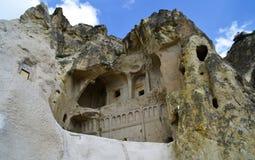 Steenhuis in Cappadocia, Turkije royalty-vrije stock afbeeldingen