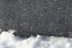Steenijs en de achtergrond van de sneeuwtextuur Royalty-vrije Stock Afbeeldingen
