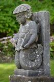 Steenjongen - Portmerion-Dorp in Wales stock afbeeldingen