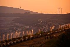Steenkool dagbouw Royalty-vrije Stock Foto's