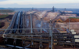 Steenkool dagbouw Royalty-vrije Stock Afbeelding