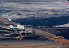 Steenkool dagbouw Stock Foto