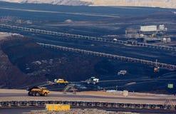 Steenkool dagbouw Royalty-vrije Stock Afbeeldingen