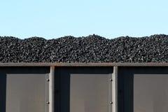 Steenkool in gesloten goederenwagen Stock Foto's