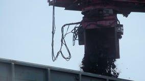Steenkool het sorteren door fracties, steenkoolvervoer per spoor stock videobeelden