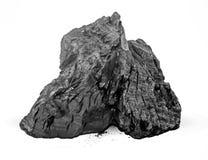 Steenkool op de witte achtergrond wordt geïsoleerd die royalty-vrije stock fotografie
