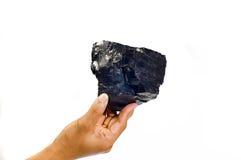 Steenkool op Hand Royalty-vrije Stock Foto