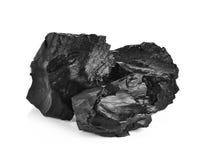 Steenkool op witte achtergrond royalty-vrije stock foto