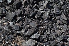 Steenkool ter plaatse Stock Afbeeldingen