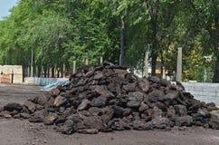 Steenkool voor de winter Stock Foto's