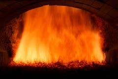 Steenkoolbrand Stock Afbeeldingen