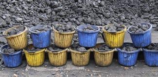 Steenkoolemmers royalty-vrije stock foto