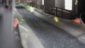 Steenkoolvervoer voor verdere verwerking stock video