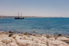 Steenkustlijn Cyprus Stock Afbeeldingen