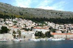 Steenmuren van oude stad Dubrovnik, Kroatië Royalty-vrije Stock Afbeeldingen