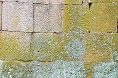 steenmuur bij het kasteel Royalty-vrije Stock Foto