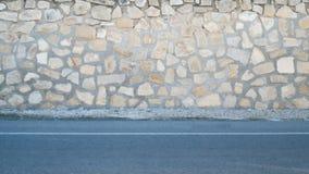 Steenmuur en stoep, achtergrondscènes Royalty-vrije Stock Fotografie