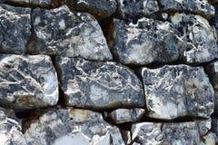 Steenmuur met zwart-witte schaduwen van grijs, royalty-vrije stock afbeelding