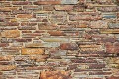 Steenmuur van een huismuur Van Cornwall als achtergrond royalty-vrije stock afbeelding