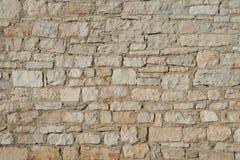 Steenmuur van kalksteenblokken dat wordt gemaakt Royalty-vrije Stock Afbeelding