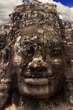 Steenmuurschilderingen in Angkor wat stock afbeeldingen