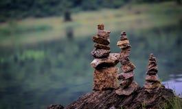 3 steenpiramide Stock Fotografie