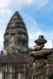 Steenpiramide in Kambodja Stock Foto's