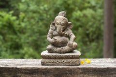 Steenstandbeeld van Ganesha Stock Afbeelding