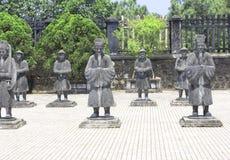 Steenstandbeelden van mensen in Minh Mang Tomb, Tint, Vietnam stock afbeelding