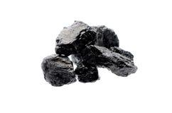 Steensteenkool om te isoleren Stock Foto