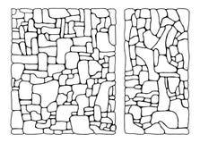 Steentextuur geïsoleerde tekening Muurhulp royalty-vrije illustratie