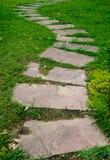 Steenweg in het Park stock fotografie