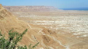 Ascent on Masada stronghold, Israel. Stock Image