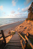 Steep Baltic coast. Royalty Free Stock Image