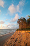 Steep Baltic coast. Royalty Free Stock Photos