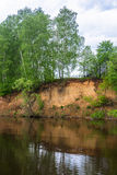 Steep Bank of the river. Stock Photography