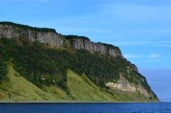 Steep Bearreraig Bay Sea Cliffs. Very steep sea cliffs at Bearreraig Bay in Scotland Royalty Free Stock Photos
