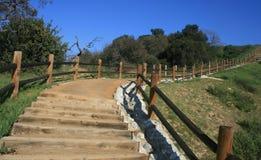 Steep Canyon Stairway. Staircase leading up a steep hillside, Diamond Bar, CA Stock Photos