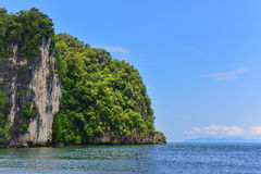 Steep cliff along the beach at Krabi Stock Photography