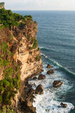 Steep cliff at Bali Royalty Free Stock Photos