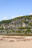 Steep cliff with river in Andong Royalty Free Stock Images
