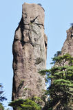 Steep cliff in sanqingshan Stock Image