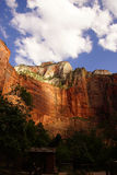 Steep cliffs along the Virgin River Stock Images