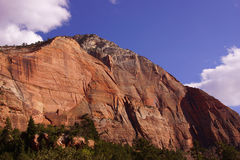 Steep cliffs along the Virgin River Royalty Free Stock Photography