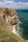 The steep cliffs of cape Kaliakra, Bulgaria Royalty Free Stock Photos
