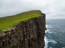 Steep cliffs of Faroe Islands.