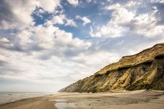 Steep Cliffs at Lønstrup- Denmark Stock Image